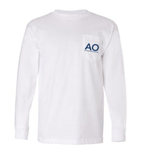 Load image into Gallery viewer, AO Marlin Long Sleeve Pocket Tee