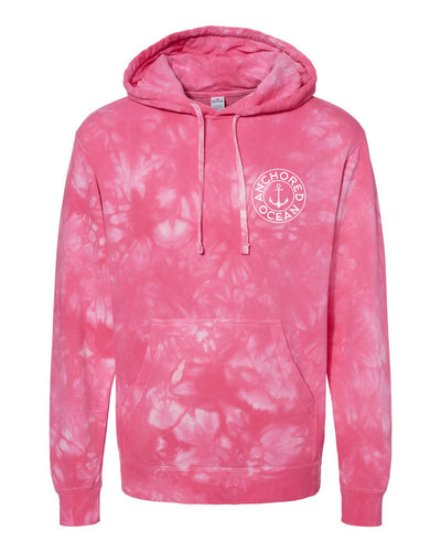 AO Circle Tie-Dye Hooded Fleece