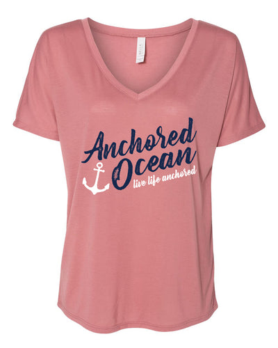 Anchor Slouchy V-Neck