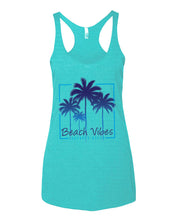 Load image into Gallery viewer, Beach Vibes Ladies Tank
