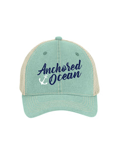 Anchor Unstructured Trucker Hat