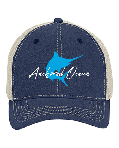 Marlin Unstructured Trucker Cap