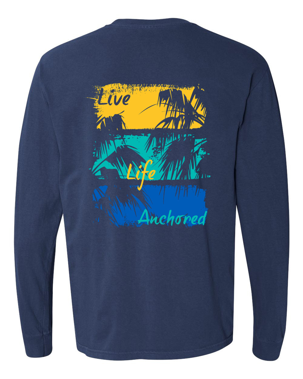 Painted Palms Long Sleeve Tee