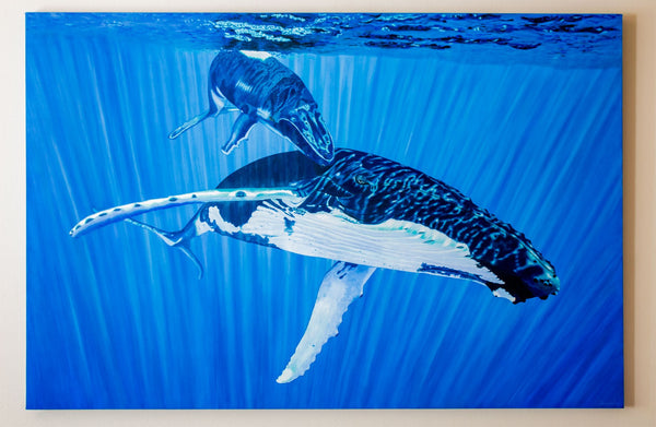 Whale painting in acrylic