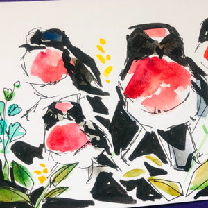 PRETTY IN INK: BIRDS IN MIXED MEDIA, Friday 27 November 2020, Beginners to Intermediate