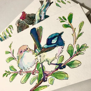 PRETTY IN INK: BIRDS IN MIXED MEDIA, Saturday 5 December 2020, Beginners to Intermediate