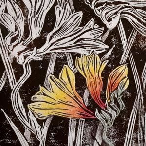 Studio Course: LINOCUT PRINTING: NATIVE FLOWERS:  From 1 June -15 June 2021 - Beginners to Intermediate