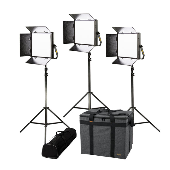 ikan Lyra 1 x 1 Bi-Color 3-Point LED Soft Panel Light Kit