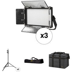 ikan Rayden Half x 1 Daylight 3-Point LED Panel Light Kit