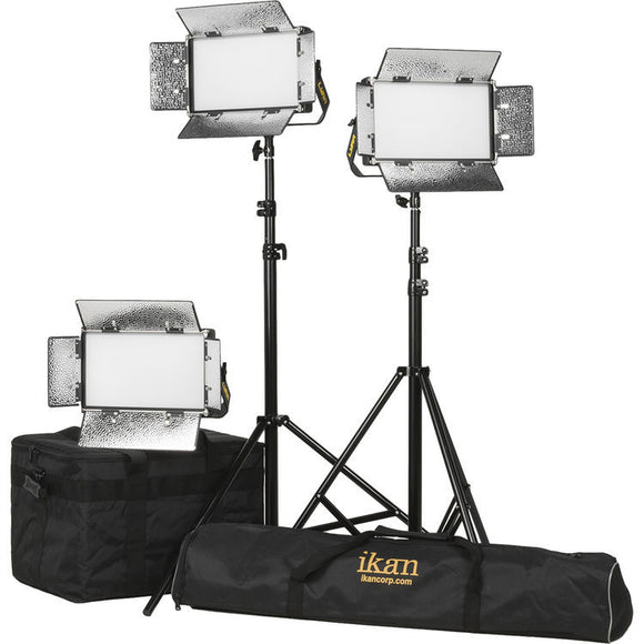 ikan Lyra Half x 1 Bi-Color 3-Point LED Soft Panel Light Kit