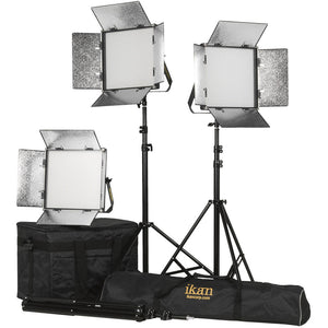 ikan Rayden 1 x 1 Bi-Color 3-Point LED Panel Light Kit