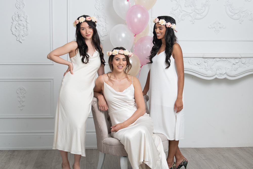 Flower crowns for brides and bridesmaids