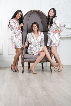 Floral bridesmaid robe for bridal party
