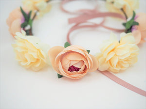 Blush Bridal Flower Crown