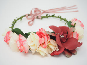 Pink Bridal Flower Crown