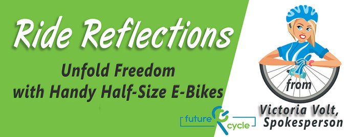 Unfold freedom with handy half-size e-bikes