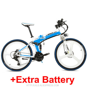 "XT750 Cool High Quality 26"" Foldable Electric Mountain Bike, Adopt 36V 12.8Ah Hidden Lithium Battery, Speed 25~35km/h"
