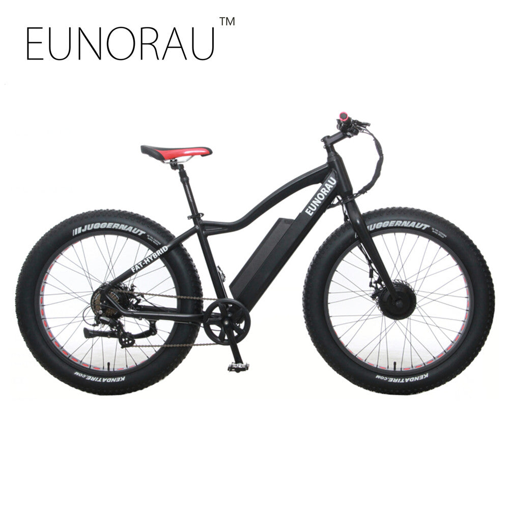 EUNORAU 2WD 48V 250W+350W Electric Bicycle
