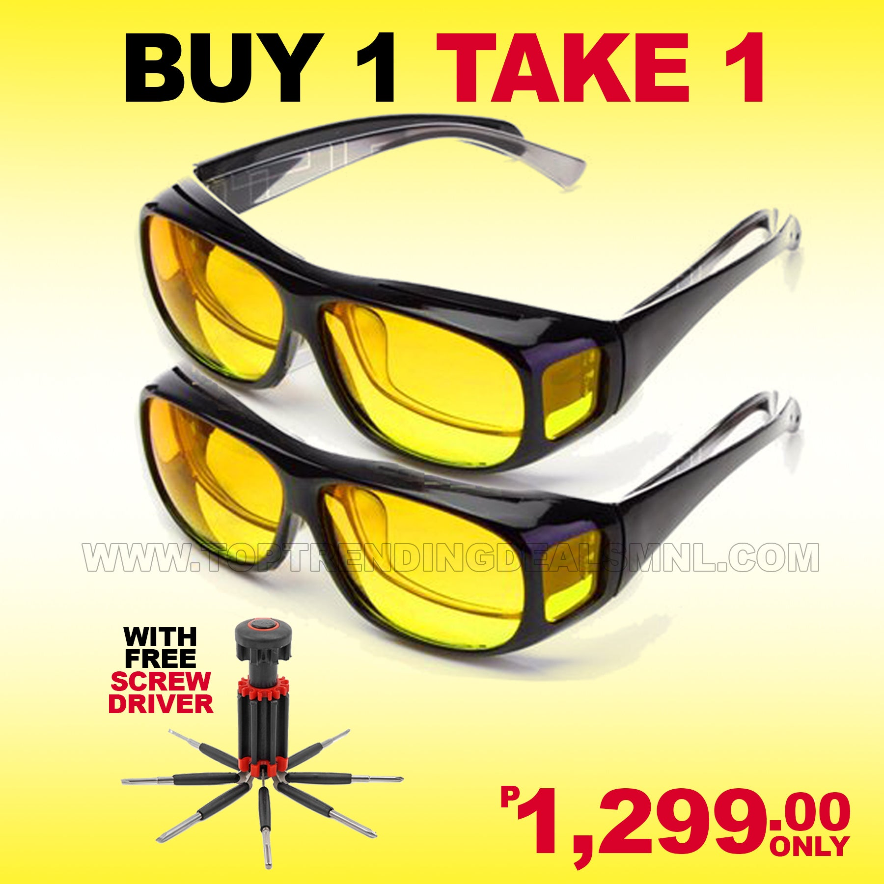 d343defab2e Night Vision Glasses (Buy 1 Take 1) w  FREE Screwdriver and ...