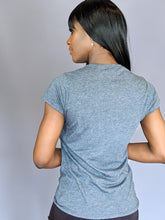Graphic Fitted Soft T-shirt Gunmetal Gray Heather