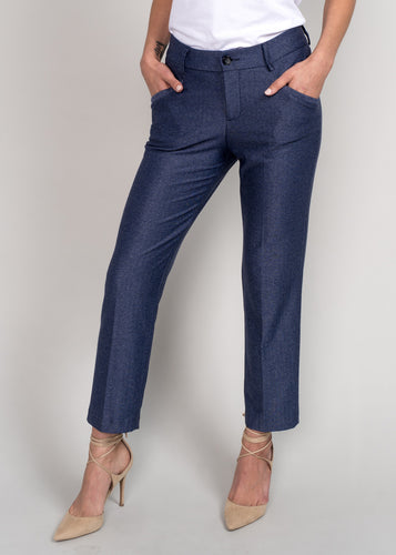 Darcy Cropped Pant Navy