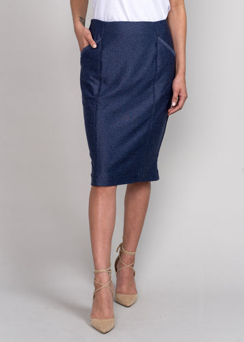 Draper Pencil Skirt Navy
