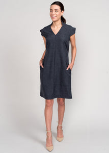 Eyre Power Dress Charcoal