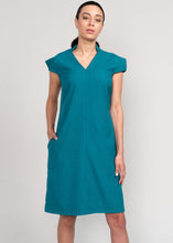 Eyre Power Dress Teal