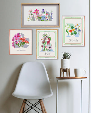 Personalised Botanical Letter Prints