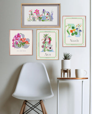 Personalised Botanical Letter Art Prints
