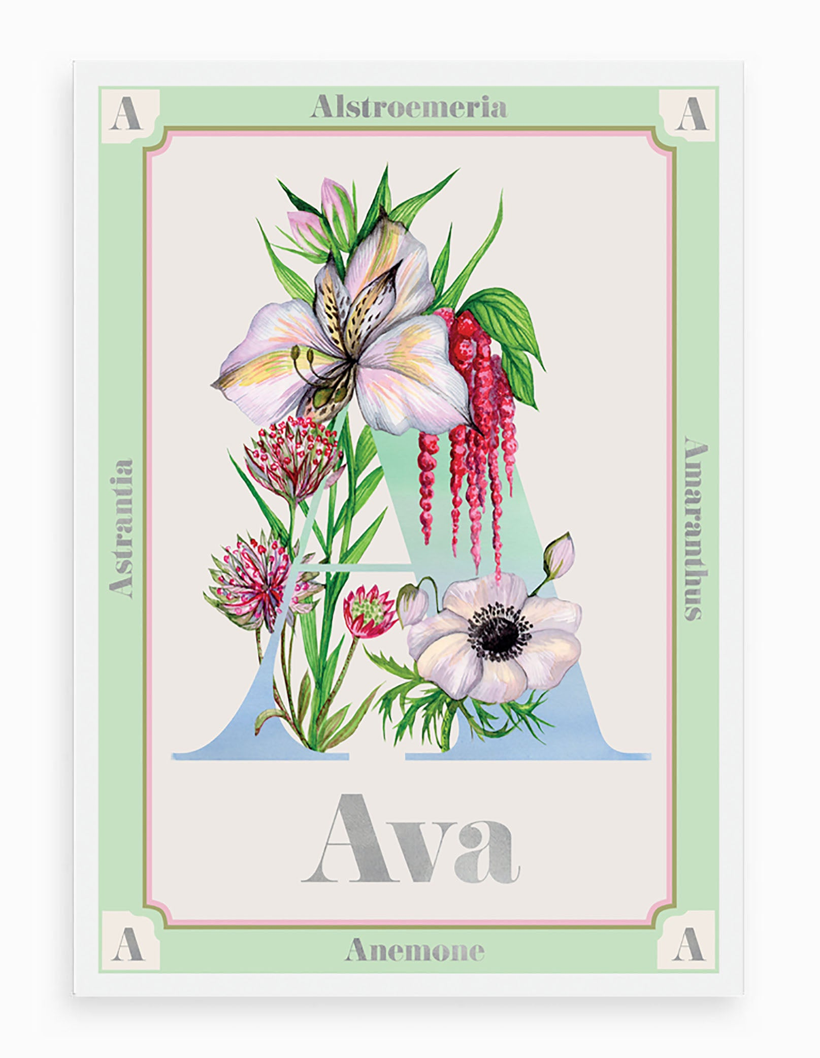 Personalised Botanical Letter 'A' Print