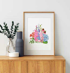 'The Summer of Botanicals' Watercolour Art Print