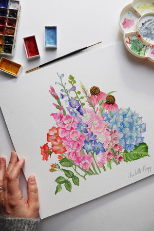'The Summer of Botanicals' Watercolour Giclee Art Print
