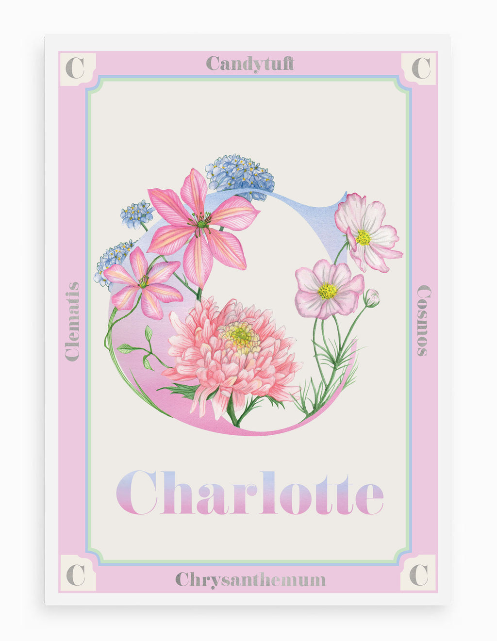 Personalised Botanical Letter 'C' Print