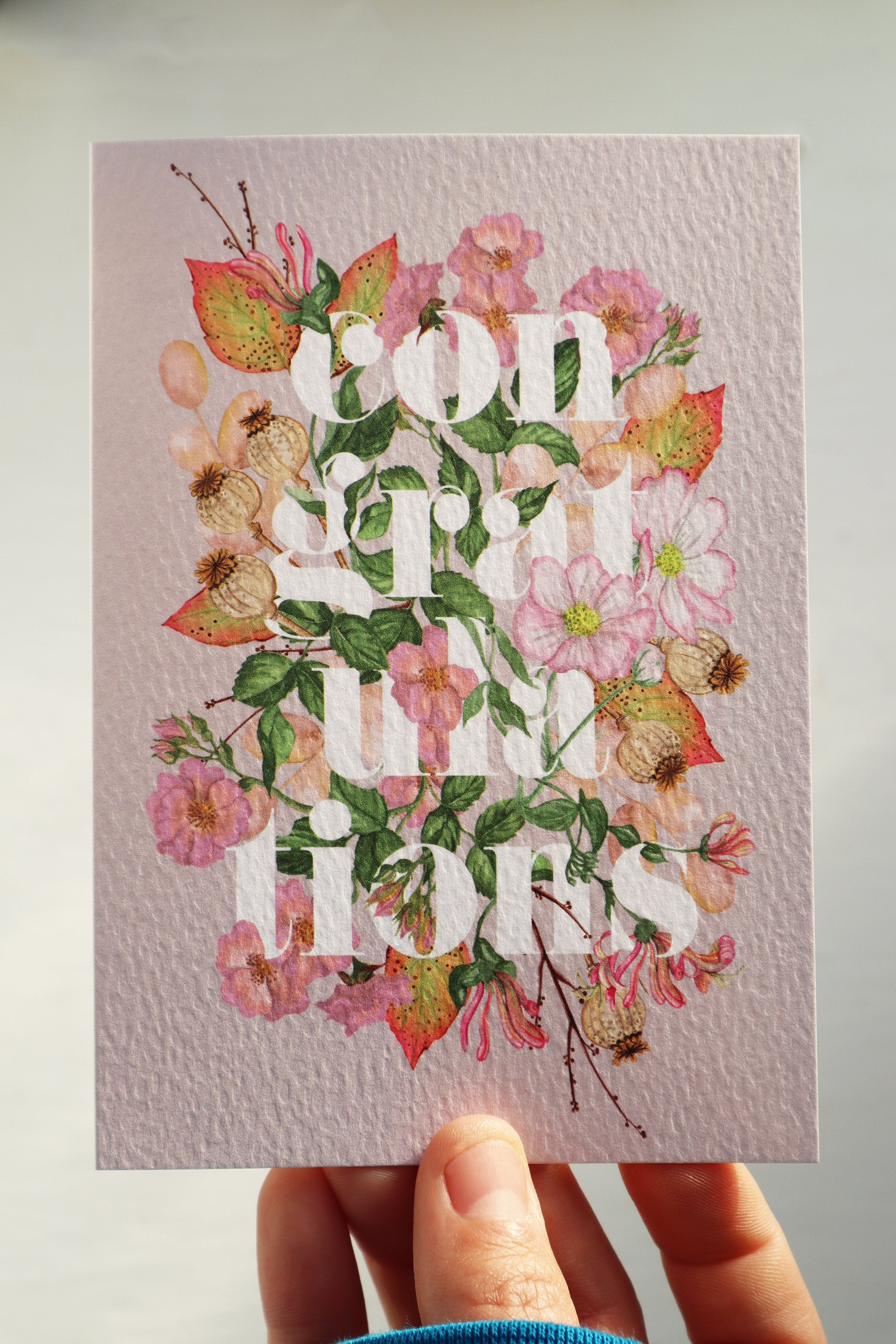 'Congratulations' Luxury Botanical Greetings Card