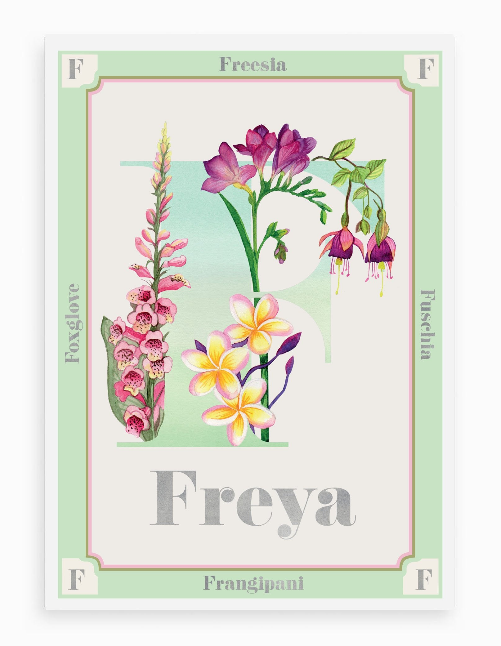 Personalised Botanical Letter 'F' Print