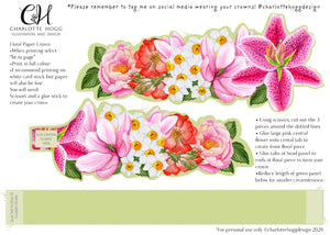 Free Printable Floral Crown