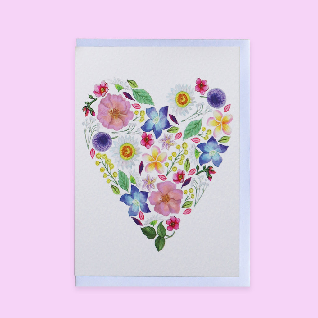 Botanical Love Heart Luxury Greetings Card