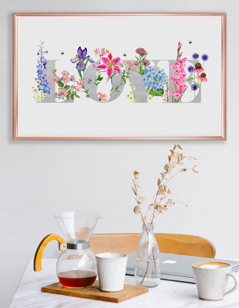 'Love' Botanicals- Signed Giclee Art Print