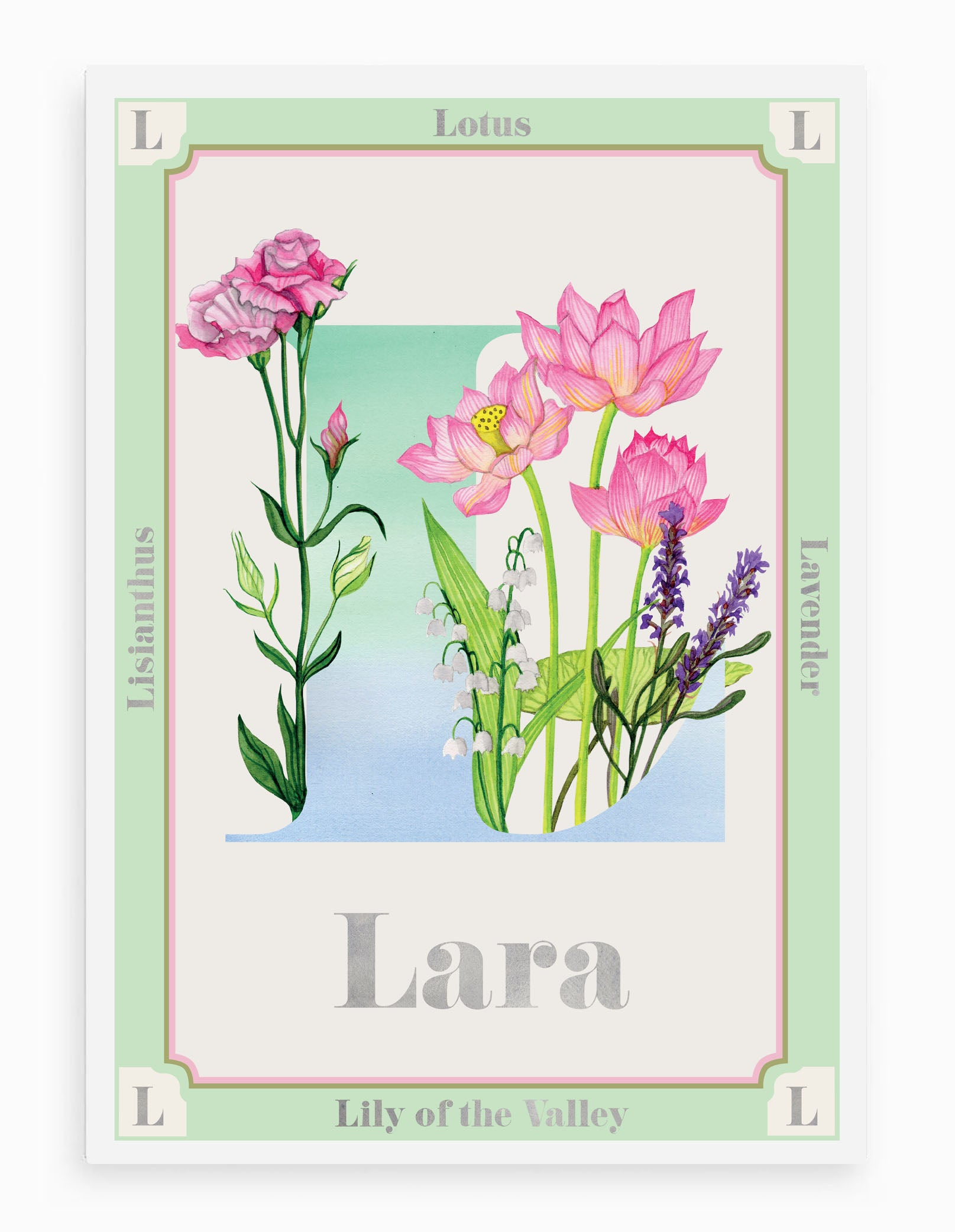Personalised Botanical Letter 'L' Alphabet Print