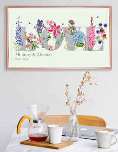 Personalised 'Love' Botanicals- Signed Giclee Art Print