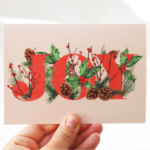 'Botanical Joy' Luxury Christmas Card
