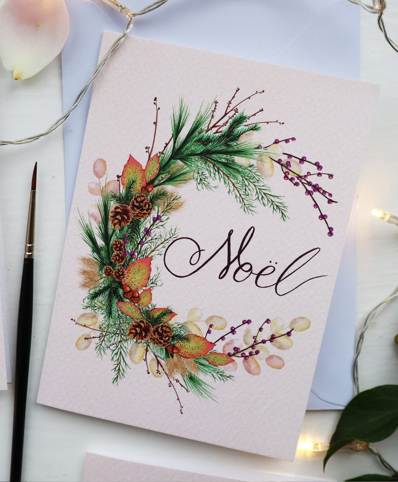 'Noel Wreath' Luxury Christmas Card