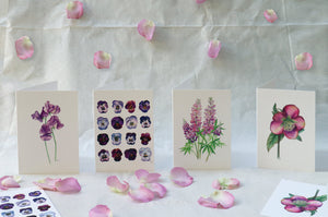 'Lupins' Luxury Botanical Greetings Card