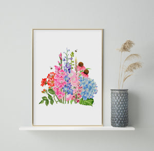 'The Summer of Botanicals' Watercolour Signed Giclee Art Print