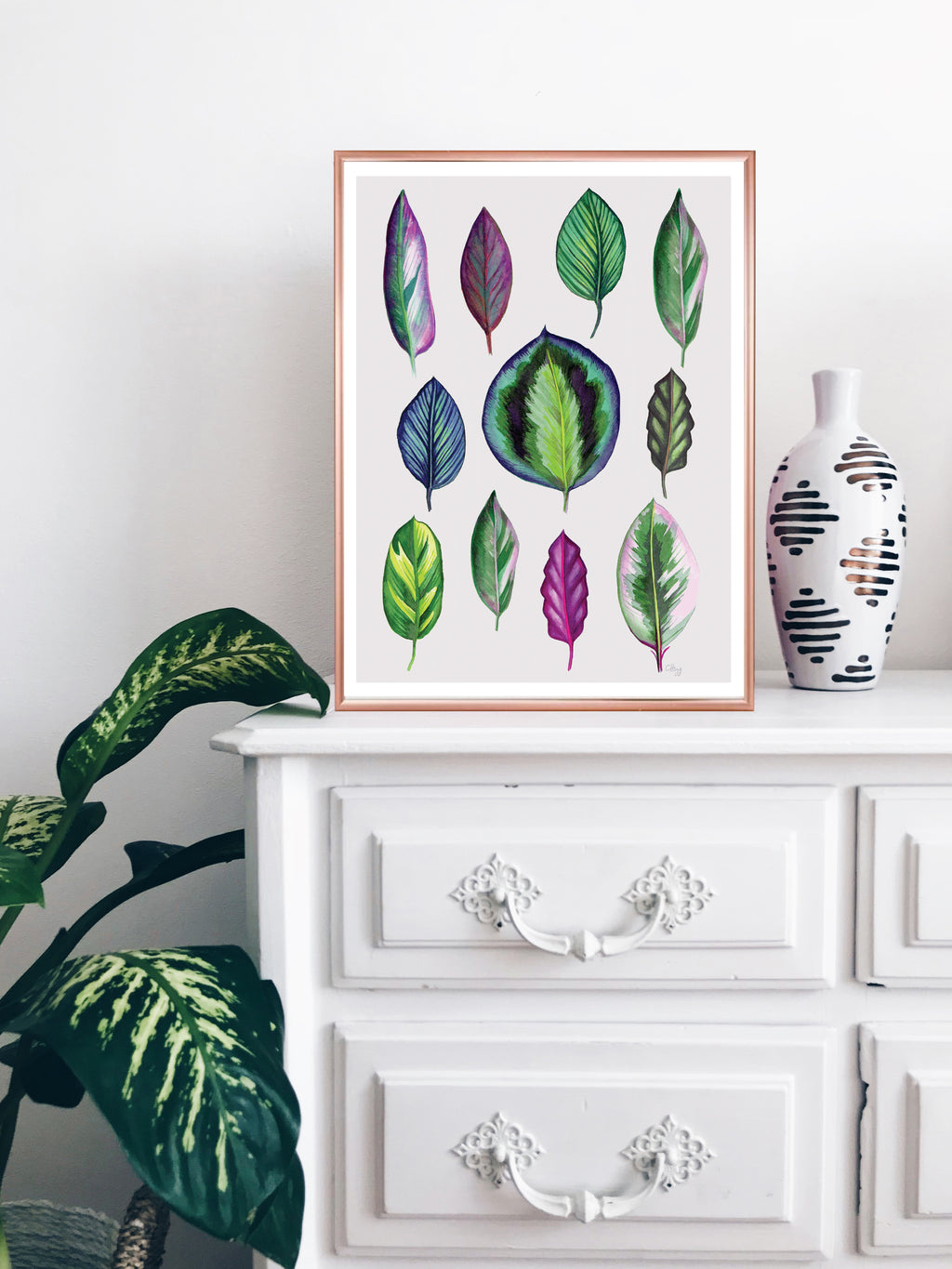 'Colourful Leaves' Botanical Watercolour limited edition Signed Giclee Art Print