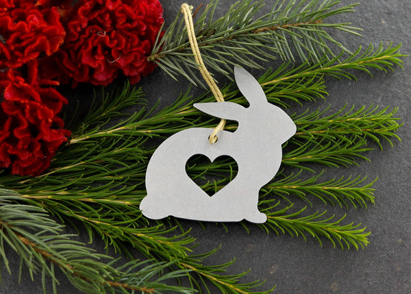 Bunny Metal Ornament