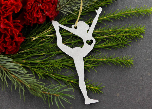 Dancer Pose Yoga Metal Holiday Gift Christmas  Ornament