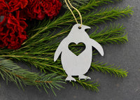 Penguin Bird Animal Metal Holiday Gift Christmas Ornaments