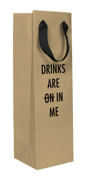 Drinks in Me wine bag